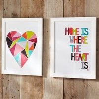 Geo Sentiment Framed Art - Heart