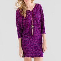 Fontana Geometric Sweater Dress