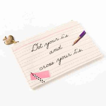 """Dot Your I's"" Pencil Pouch Set by Kate Spade New York"
