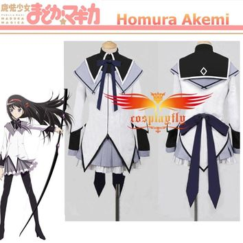 Puella Magi Madoka Magica Homura Akemi Cosplay Costume Custom Party Dress Skirt Women Outfit (C0050)
