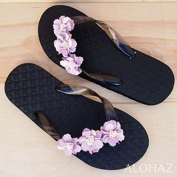 flower power hawaiian flip flops