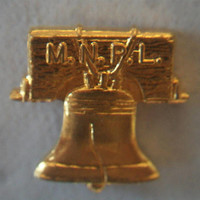 Liberty Bell M.N.P.L. Union Lapel Pin Gold Tone Unisex Accessories
