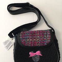 disney parks multicolors felt minnie mouse icon shoulder bag new with tag