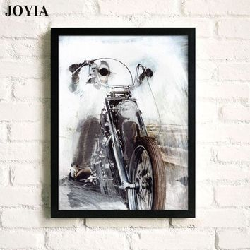 Halley Motor Wall Art Canvas Prints Sketch Motorcycle Bedroom Bar Decorative Art Picture Home Living Office Decor Posters