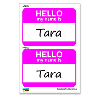 Tara Hello My Name Is - Sheet of 2 Stickers
