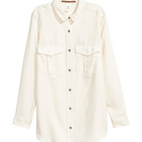 Lyocell Utility Shirt - from H&M