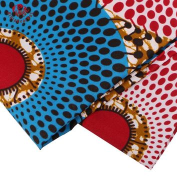 Ankara African Polyester Wax Prints Fabric Super Hollandais Wax High Quality 6 yard African Fabric