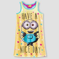 Despicable Me Minions Girls' Tank Nightgown - Yellow