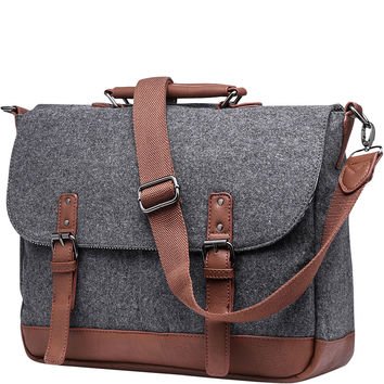 Something Strong Wool Messenger Bag with Padded Laptop Holder - eBags.com