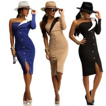 New Fashion Women's Slim Casual Dresses = 1876532676