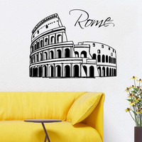 Italy Wall Decals Colosseum Rome Architecture Vinyl Decal Sticker Art Mural Beauty Salon Bedroom Interior Design Nursery Decor KT134