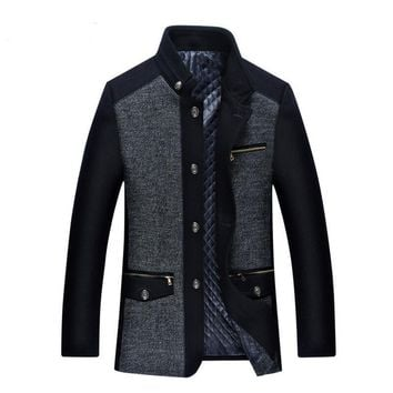 Men's Winter Jacket 2017 New Fashion Male Men's Fashion Personality Wool Mens Jacket Men Plus Men's Cashmere Coat