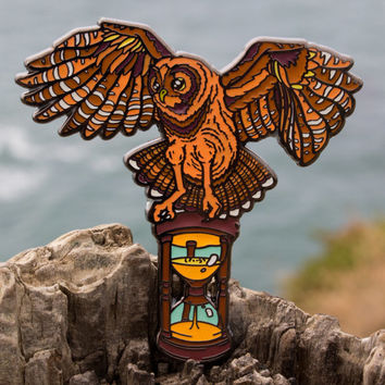 INFINITE OWL Hat Pin!!! NATURAL Variant! Limited Edition of Only 50!!!