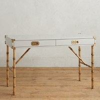 Lacquered Wellington Desk by Anthropologie