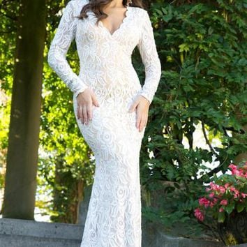 Jovani Long Sleeved Dress 90708