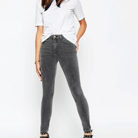 ASOS Ridley High Waist Skinny Jeans in Slated Grey