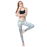 Women's Fashion Print Sports Gym Yoga Quick Dry Pants [10321053254]