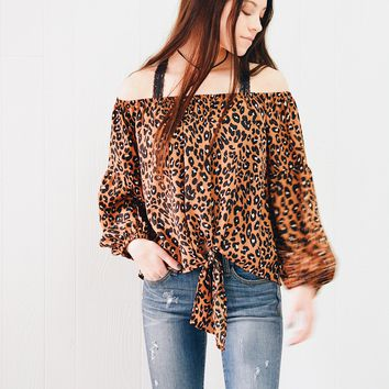 Wonderfully Wild off the shoulder top