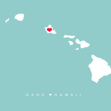 Oahu Destination Wedding Wall Art 8x10