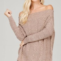Cecile Off the Shoulder Cozy Pullover