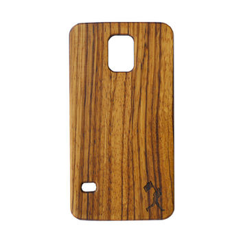 Flag Man Zebra Wood Case (Galaxy S5)