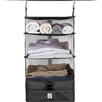 Stow-N-Go Portable Luggage System - Small - Black