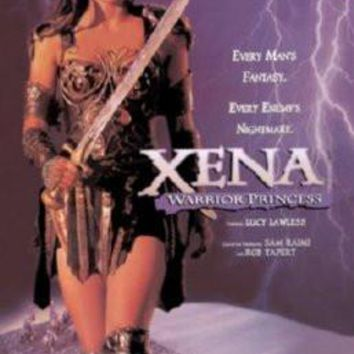 Xena Warrior Princess Promo poster Metal Sign Wall Art 8in x 12in