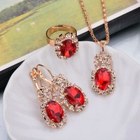 Shiny New Arrival Gift Stylish Jewelry Accessory Hot Sale Set Luxury Earrings Necklace [302110539817]