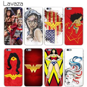 Lavaza Wonder Woman DC Superhero Hard Transparent Cover Case for iPhone X 10 8 7 6 6S Plus 5 5S SE 5C 4 4S