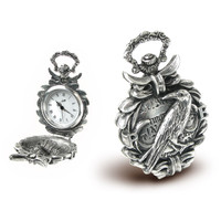 Nevermore Fob Watch - New Age, Spiritual Gifts, Yoga, Wicca, Gothic, Reiki, Celtic, Crystal, Tarot at Pyramid Collection