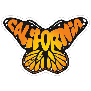 California Butterfly Sticker
