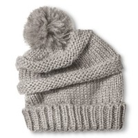 Women's Knit Beanie Hat with Pom Pom