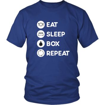Boxing  - Eat Sleep Boxing  Repeat  - Boxer  Sport Shirt