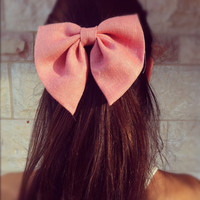 Unique light pink  Pink BIG hair bow