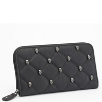 Rock Rebel Quilted Skull Wallet