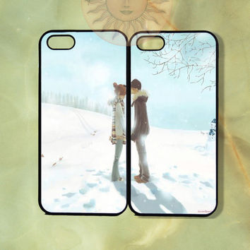 Young Love Couple Cases -iPhone 5, 5s, 5c, 4s, iphone 4 case, ipod 5, Samsung GS3 Gs4 -Silicone Rubber or Hard Plastic Case, Phone cover