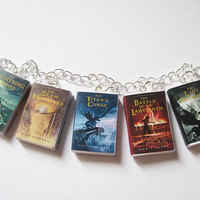 Percy Jackson and the Olympians Mini Book Charm Bracelet