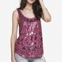 Aztec Sequin Cold Dyed Tank from EXPRESS
