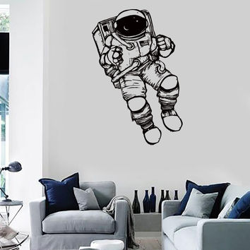 Wall Stickers Vinyl Decal Spaceman Astronaut Space Universe Living Room (z2169)