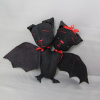 Two-Headed Bat Plush Doll, Harold and Maude
