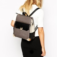 New Look Xhatch Formal Backpack with Pocket at asos.com