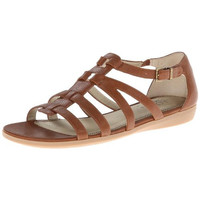LifeStride Womens Flatia Textured Cut-Out Strappy Sandals