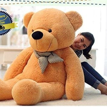 "Big Teddy Bear Giant 47"" Stuffed Animal Plush Toy Soft 120CM Huge Cuddly Brown"