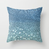 Bubbly Sea Throw Pillow by Lisa Argyropoulos