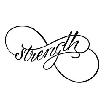Strength - Laser Cut Metal Wall Decor Sign