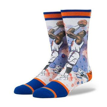 Stance x Todd Francis NBA Legends Authentic Men's Crew Socks - EWING - L/XL