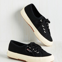 Active Kindness Sneaker in Black | Mod Retro Vintage Flats | ModCloth.com