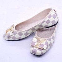 Louis Vuitton Trending Fashion Casual Women Fashion Flats Shoes Sandals Shoes White G