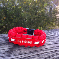 Lifeguard Survival Paracord 550 Bracelet