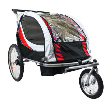 New Clevr Deluxe Child Bicycle Trailer Baby Bike Kid Jogger Red Running Carrier